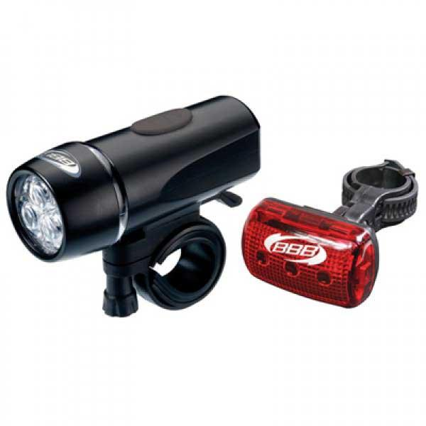 BBB BLS-79 CombiLaser Battery LED Light Set Bike Combo Front /& Rear Light Set