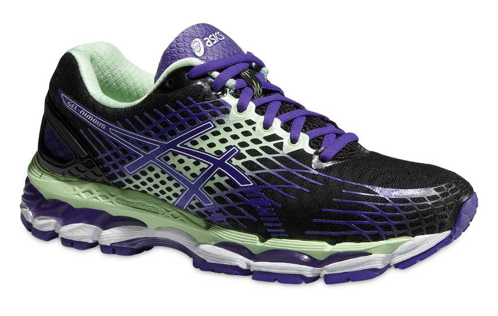 asics gel nimbus 17 womens running shoes purple mint