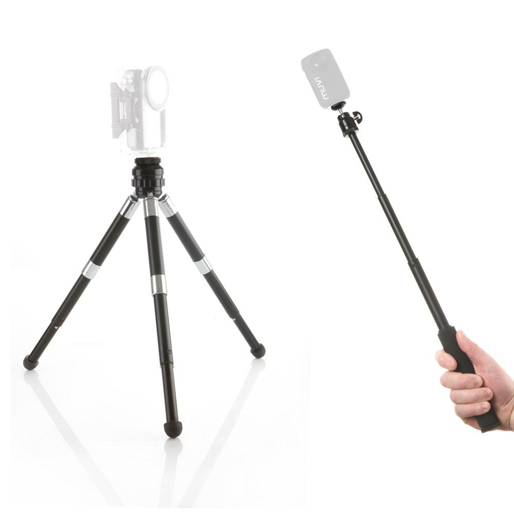 Muvi Monopod and Tripod Extensible Articulated