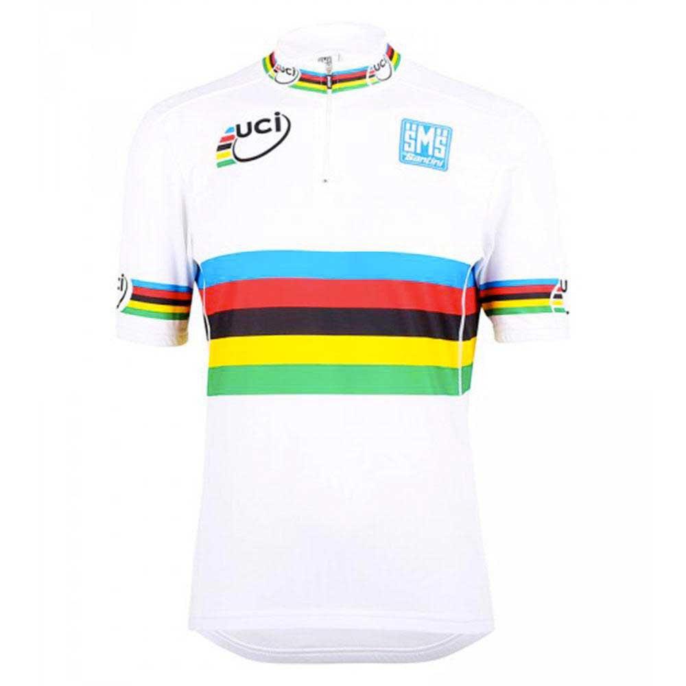 Santini U.C.I. World Champion Road Short Sleeves Jersey Cut For Kids ... 7278ec77d
