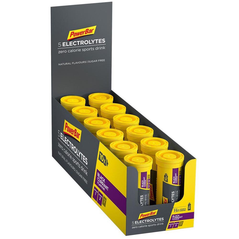 Powerbar 5 Electrolytes 40gr 10x12 Units Black Currant