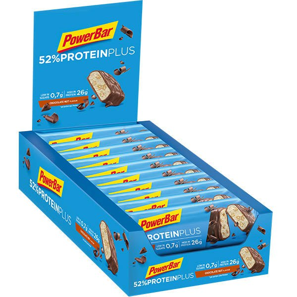 Powerbar Proteína Plus 52 50gr 20 Unidades Nueces De Chocolate