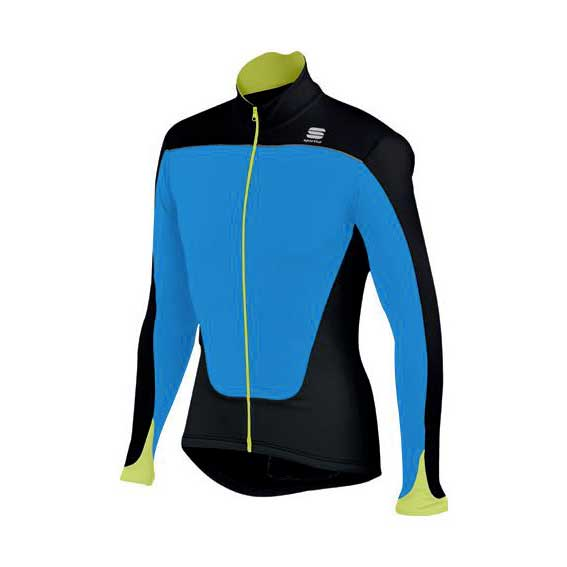 Sportful Force Thermal Jersey Electric Blue/Black/Yellow Fluo
