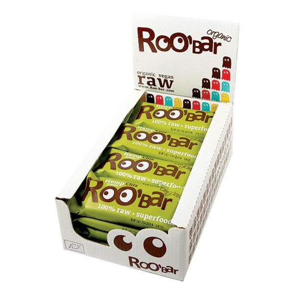 Roo´bar Raw Energy Bar Hemp Protein And Chia 50 G X 16