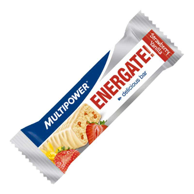 Multipower Bar Energate Strawberry-Vanilla 35 gr (Box 24 Units)
