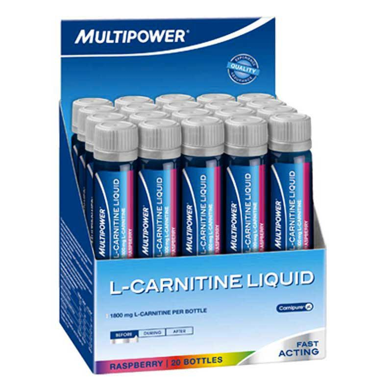 Multipower L-Carnitina Raspberry Liquid 25ml (Box 20 Units)
