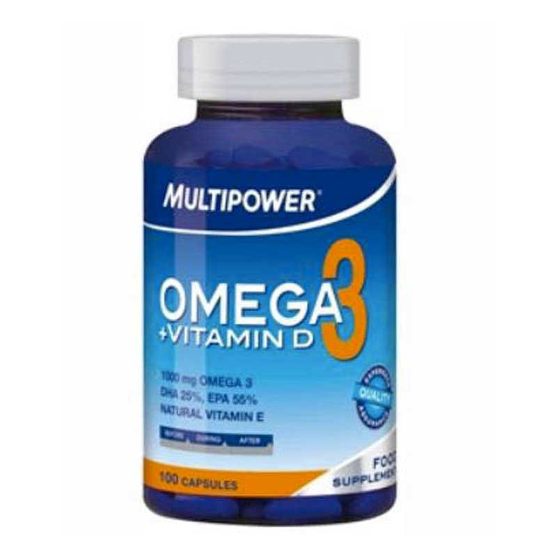 Multipower Omega 3 + Vitamin D (100 Capsules)