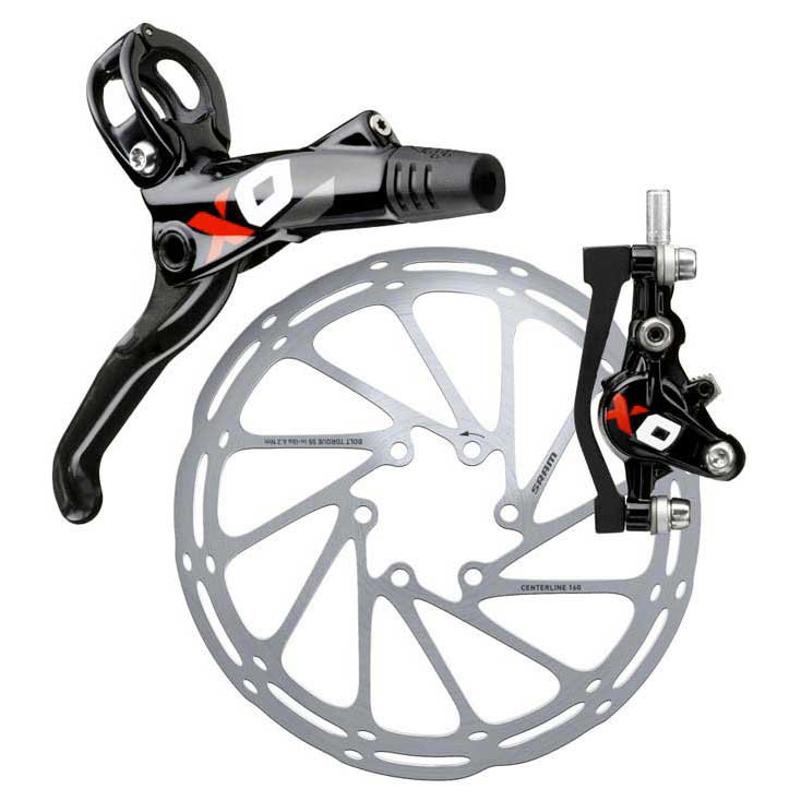 Sram Disc Brake X0 Carbon GS Black/Red Front 950mm Hose (Rotor/Bracket sold separately)
