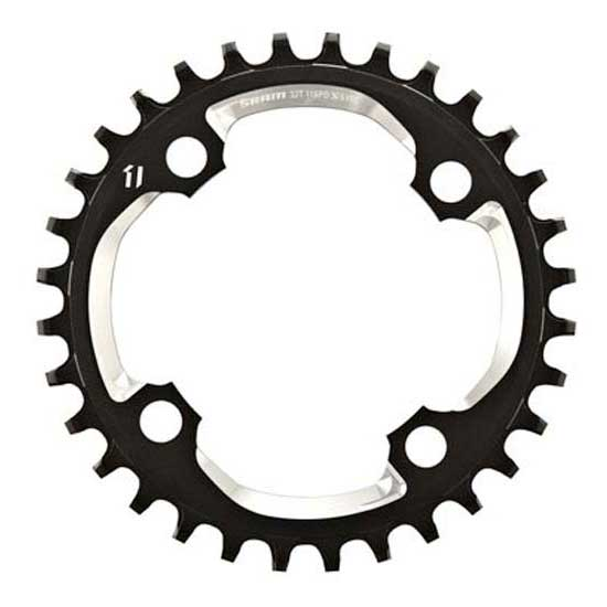 Sram Chain Ring X-Sync 32T 94BCD Alum 5mm Black w CNC Silver 11 speed