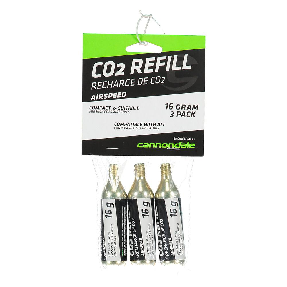 Cannondale Co2 Cartridge 3 Pack 16gr