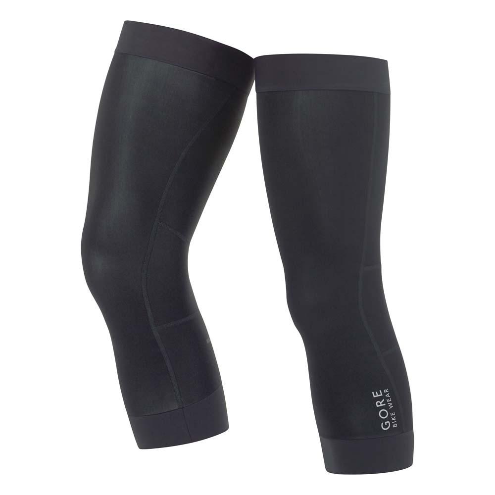 Fahrradfahren Reflex-Logo GORE WINDSTOPPER Leg Warmers Beinlinge in black
