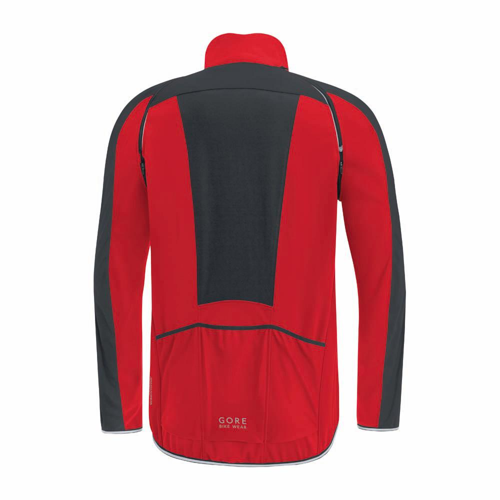 Gore Bike Wear Phantom Plus Gore Windstopper Zip Off Red