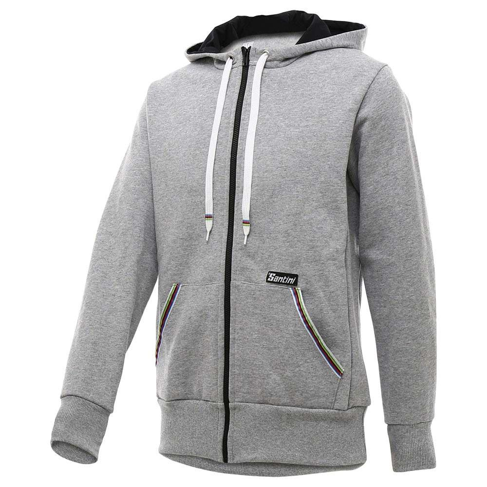ad2a81ca Santini UCI Rainbow World Champion Hoodie Fleece Grey, Bikeinn
