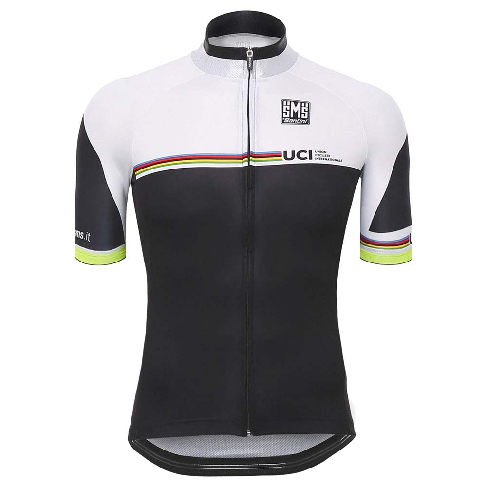 Santini UCI Rainbow Summer Jersey White e123bb62d