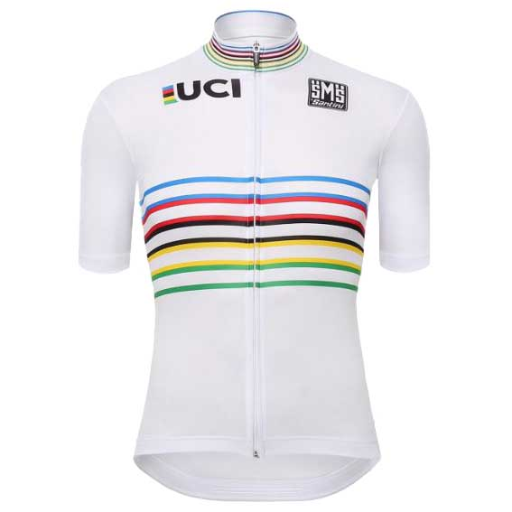 Santini UCI Rainbow Master World Champion Jersey White 32ff12e6b