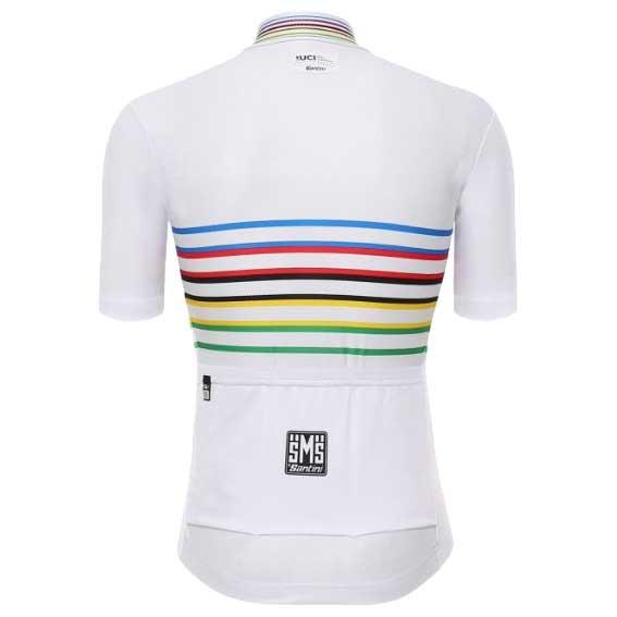 Maglia a Maniche Lunghe Uomo Santini UCI Rainbow Design