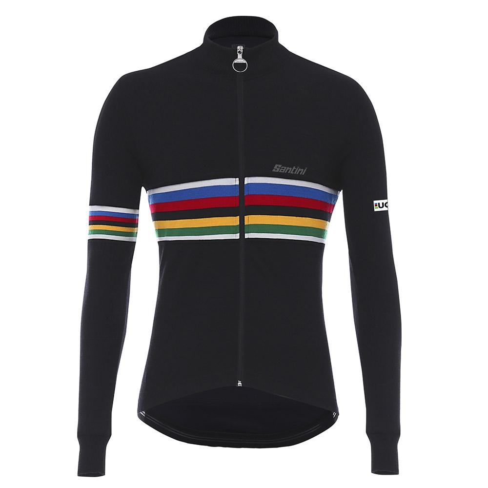 Santini UCI Rainbow Wool Black buy and offers on Bikeinn 251963b93