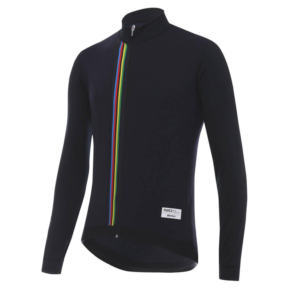 679f6683a9a Santini UCI Rainbow L/S Black buy and offers on Bikeinn
