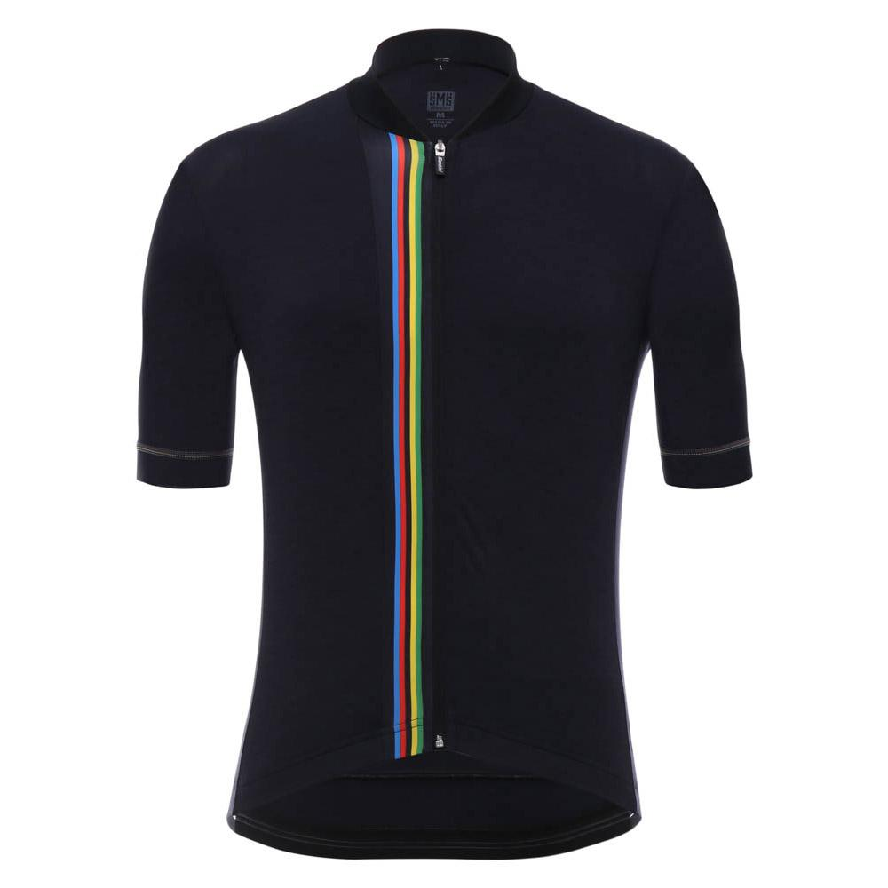 Santini UCI Rainbow S S Black buy and offers on Bikeinn e400fdec3