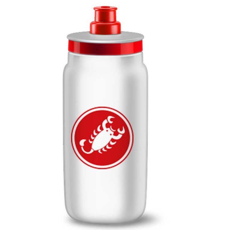 Bidones Castelli Water Bottle 550ml One Size White