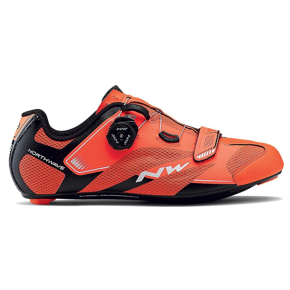Northwave Sonic 2 Plus Wide Cycling Shoe 45 Mens Black//White//Red