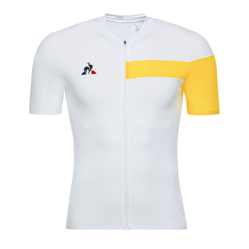34c26c476911 Le coq sportif Cycling Jersey White buy and offers on Bikeinn