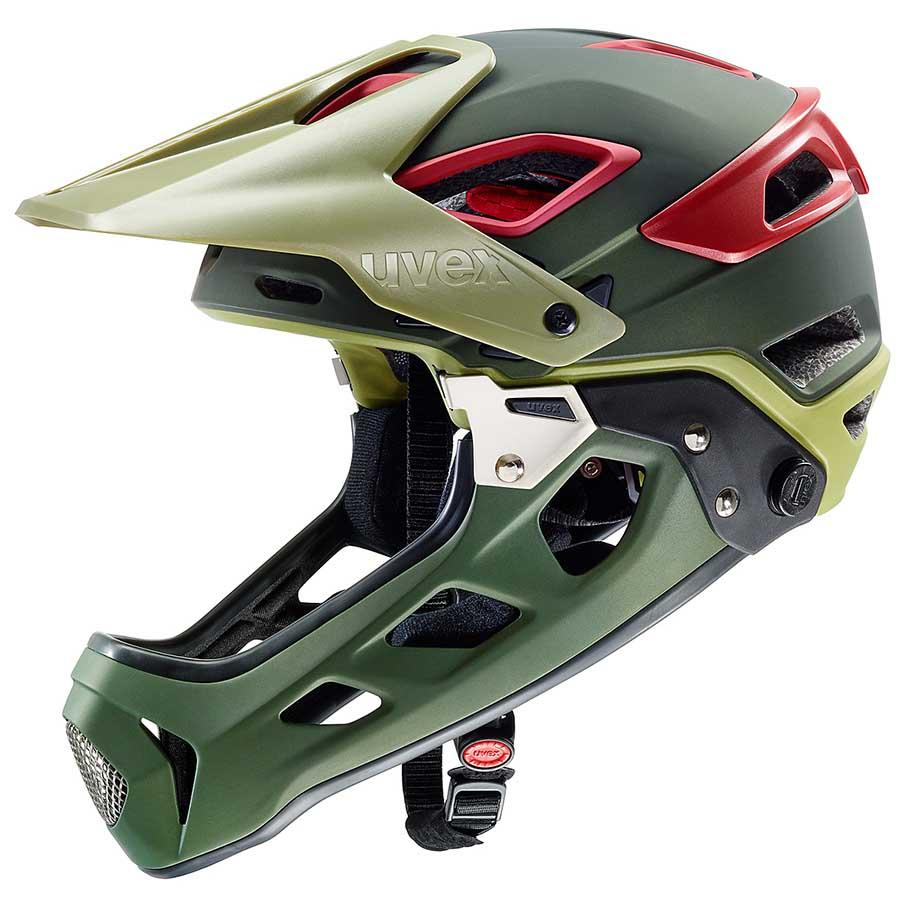 Helmet Uvex Jakkyl-with and without removable chin-up