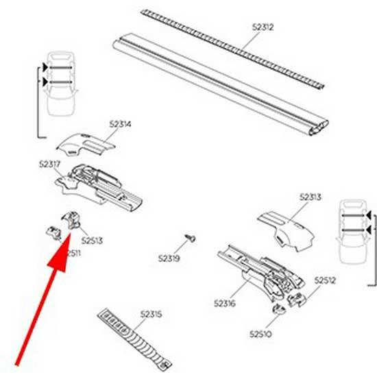 Thule Protection RH L Edge Wingbar 9581
