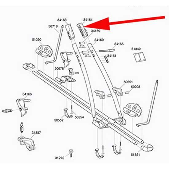Thule Replacement Frame Clamp Part 34164 Right FreeRide 532 / 575