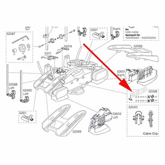 Thule Numberboard Clip 52598 2A+2B