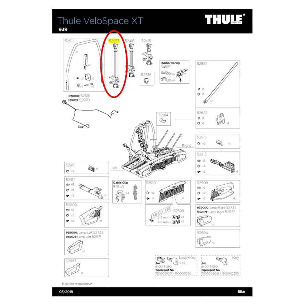 Thule 7313020079684 938-2 Backspace XT 3rd Bike Arm