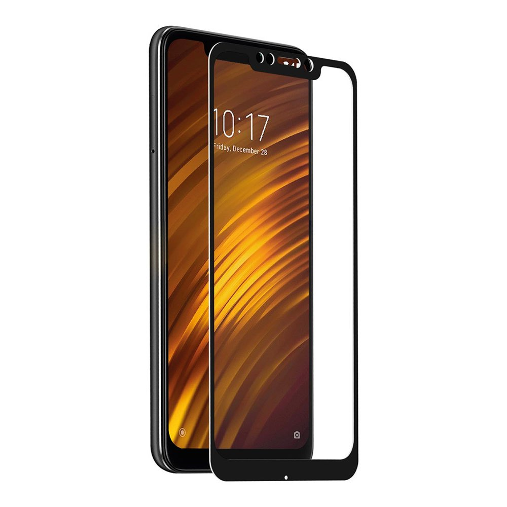 Muvit Tempered Glass Screen Protector Xiaomi Pocophone F1 One Size Clear / Black
