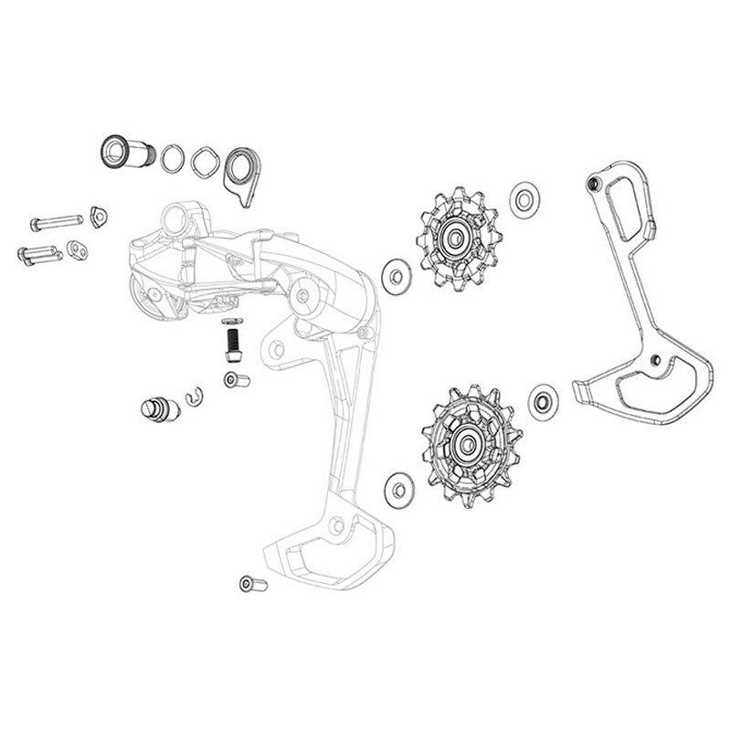 SRAM X01 Eagle AXS Rear Derailleur B-Bolt /& Limit Screw Kit