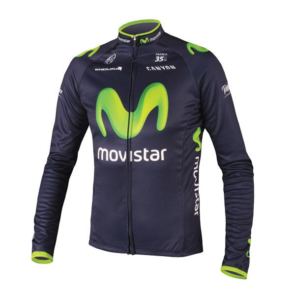 Endura Movistar Team Replica L/s Jersey Blue