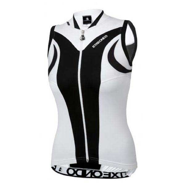 ETXEONDO Aroa Women/'s CYCLING Sleeveless Jersey in Black//White
