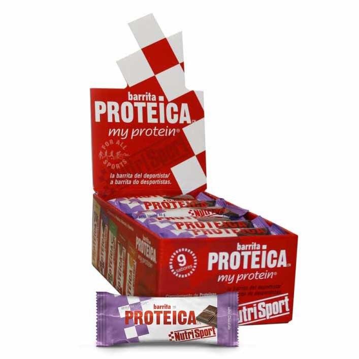 Suplementación deportiva Nutrisport Snack Protein 24 Unidades