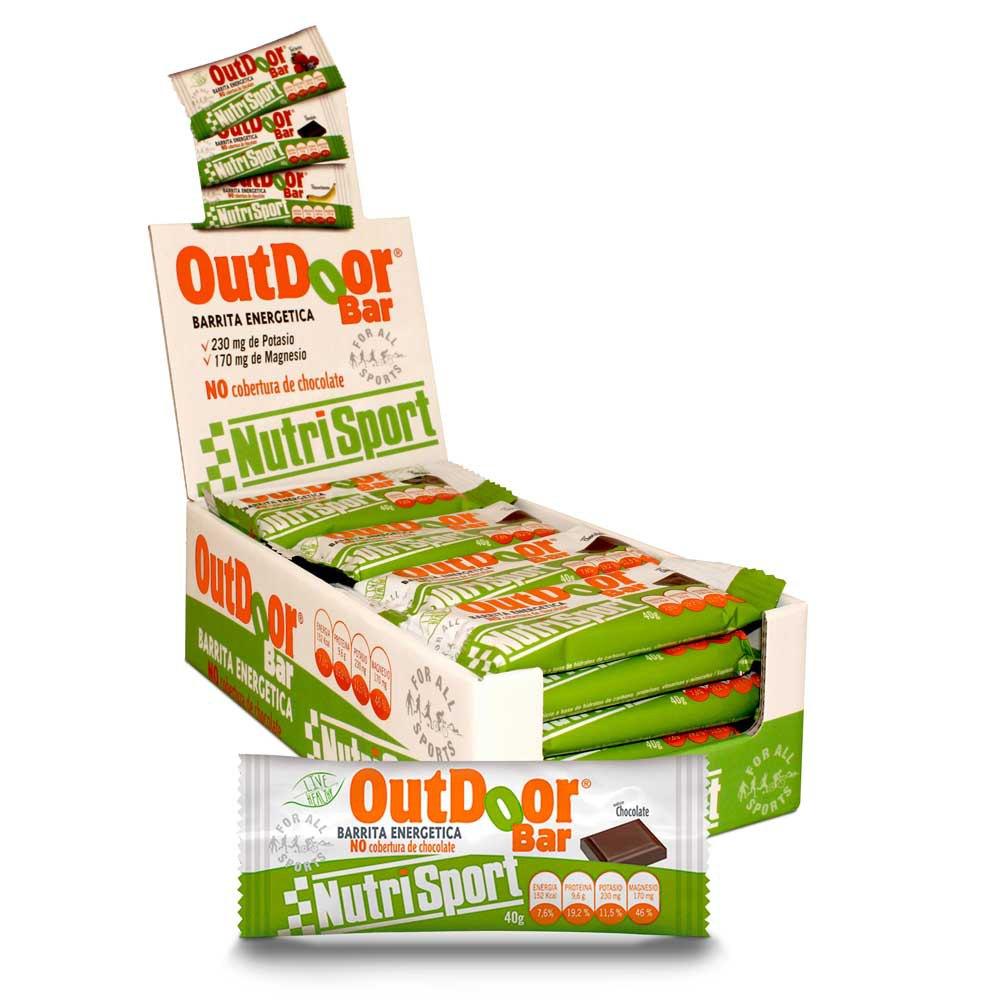 Suplementación deportiva Nutrisport Snack Outdoor Bar 20 Unidades
