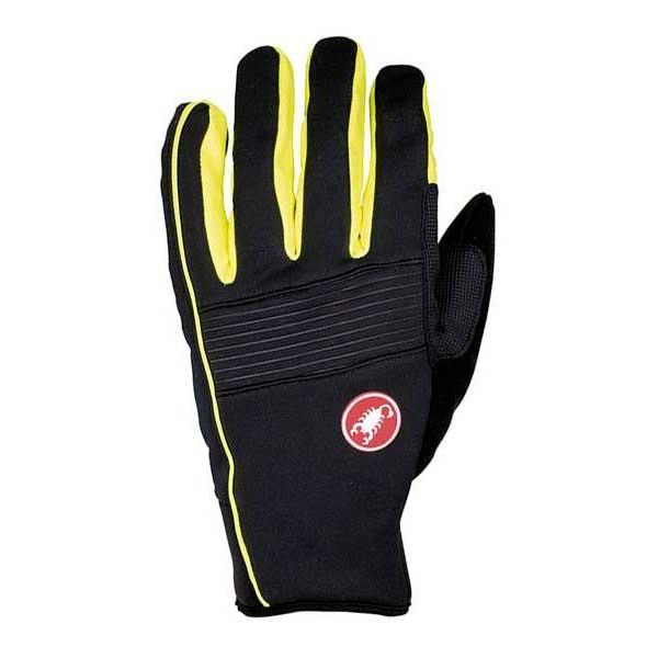 castelli chiro 3 glove black yellow fluo bikeinn