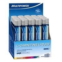 Multipower L-Carnitina Peach Liquid 25 ml (Box 20 Units)