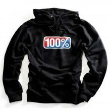 100percent Classic Hooded Pullover Sweatshirt
