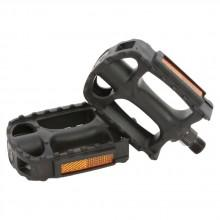 Msc Flat Pedals With Reflective Bands Steel Axle