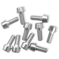 Msc Tiso Bolts M6X20 Argent Anodised 10 Units